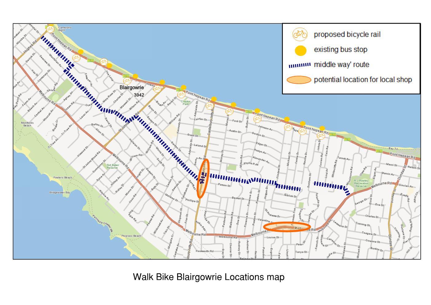 Website overview map
